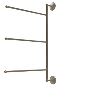 Prestige Monte Carlo Collection 3 Swing Arm Vertical 28 Inch Towel Bar, Antique Pewter