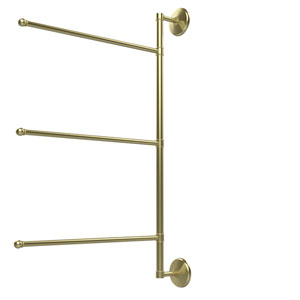 Prestige Monte Carlo Collection 3 Swing Arm Vertical 28 Inch Towel Bar, Satin Brass