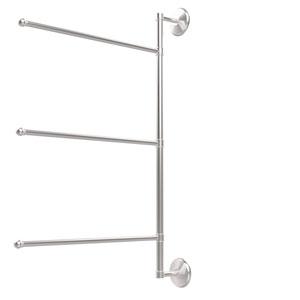 Prestige Monte Carlo Collection 3 Swing Arm Vertical 28 Inch Towel Bar, Satin Chrome