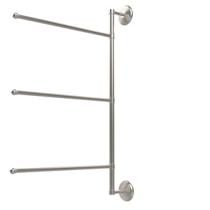 Prestige Monte Carlo Collection 3 Swing Arm Vertical 28 Inch Towel Bar, Satin Nickel