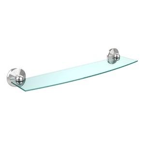 Polished Chrome Prestige Monte Carlo 24-Inch Glass Shelf