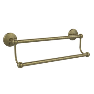 Antique Brass 24-Inch Double Towel Bar