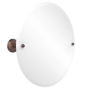 Frameless Round Tilt Mirror with Beveled Edge, Venetian Bronze