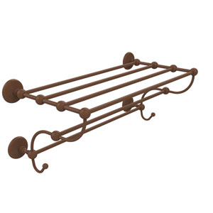 Prestige Monte Carlo Collection 36 Inch Train Rack Towel Shelf, Antique Bronze