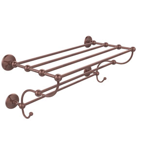 Prestige Monte Carlo Collection 36 Inch Train Rack Towel Shelf, Antique Copper