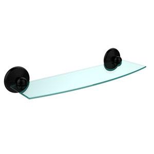 Prestige Monte Carlo Matte Black 18 Inch Glass Shelf