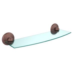 Prestige Monte Carlo Antique Copper 18 Inch Glass Shelf