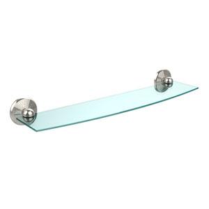 Prestige Monte Carlo Polished Nickel 24 Inch Glass Shelf