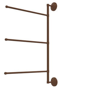 Prestige Que New Collection 3 Swing Arm Vertical 28 Inch Towel Bar, Antique Bronze