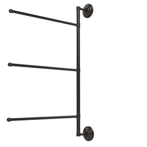 Prestige Que New Collection 3 Swing Arm Vertical 28 Inch Towel Bar, Oil Rubbed Bronze