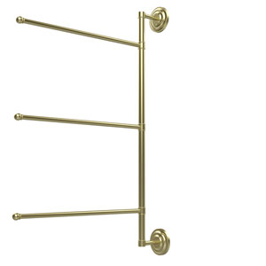 Prestige Que New Collection 3 Swing Arm Vertical 28 Inch Towel Bar, Satin Brass