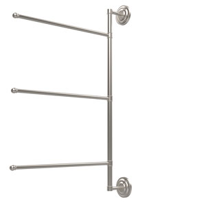 Prestige Que New Collection 3 Swing Arm Vertical 28 Inch Towel Bar, Satin Nickel