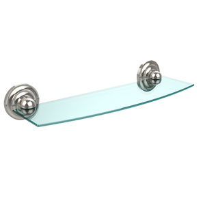 Prestige Que New Collection 18 Inch Glass Shelf, Polished Nickel
