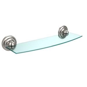 Prestige Que New Collection 18 Inch Glass Shelf, Satin Nickel