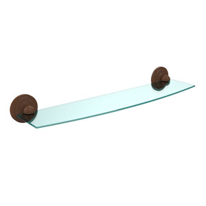 Prestige Que New Collection 24 Inch Glass Shelf, Antique Bronze