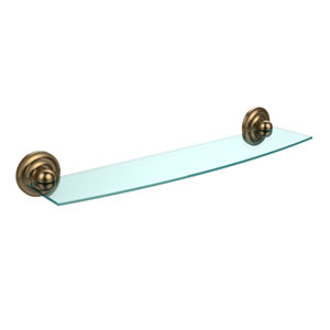 Prestige Que New Collection 24 Inch Glass Shelf, Brushed Bronze