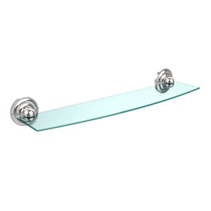 Prestige Que New Collection 24 Inch Glass Shelf, Polished Chrome