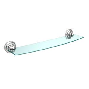 Prestige Que New Collection 24 Inch Glass Shelf, Satin Chrome