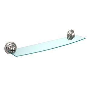 Prestige Que New Collection 24 Inch Glass Shelf, Satin Nickel