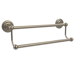 Prestige Que-New Antique Pewter 18-Inch Double Towel Bar