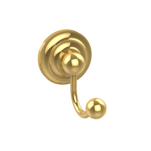 Prestige Que New Collection Robe Hook, Unlacquered Brass