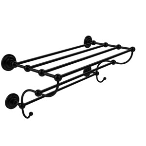Prestige Que New Collection 24 Inch Train Rack Towel Shelf, Matte Black