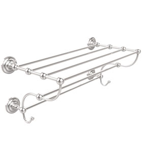 Prestige Que New Collection 24 Inch Train Rack Towel Shelf, Polished Chrome