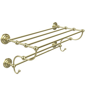 Prestige Que New Collection 36 Inch Train Rack Towel Shelf, Satin Brass