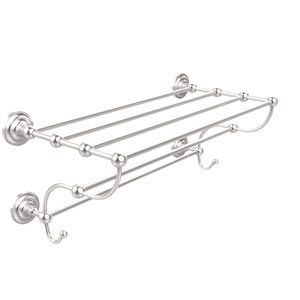 Prestige Que New Collection 36 Inch Train Rack Towel Shelf, Satin Chrome