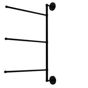 Prestige Regal Collection 3 Swing Arm Vertical 28 Inch Towel Bar, Matte Black