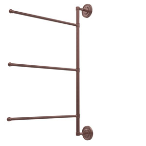 Prestige Regal Collection 3 Swing Arm Vertical 28 Inch Towel Bar, Antique Copper