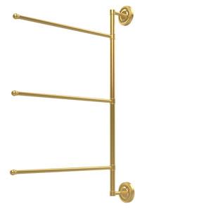 Prestige Regal Collection 3 Swing Arm Vertical 28 Inch Towel Bar, Polished Brass