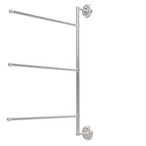 Prestige Regal Collection 3 Swing Arm Vertical 28 Inch Towel Bar, Polished Chrome