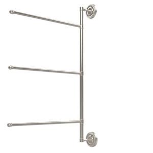 Prestige Regal Collection 3 Swing Arm Vertical 28 Inch Towel Bar, Polished Nickel