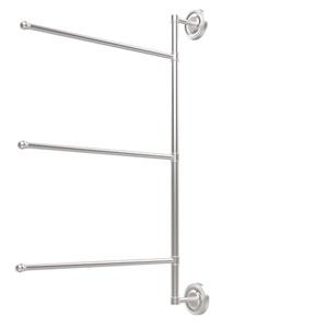 Prestige Regal Collection 3 Swing Arm Vertical 28 Inch Towel Bar, Satin Chrome