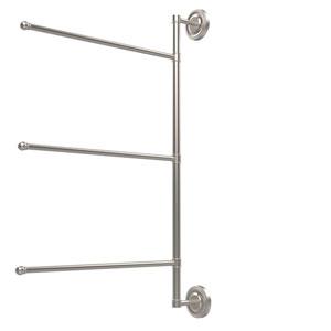 Prestige Regal Collection 3 Swing Arm Vertical 28 Inch Towel Bar, Satin Nickel