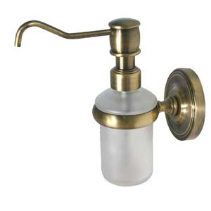 Prestige Regal Antique Brass Wall-Mounted Soap Dispenser