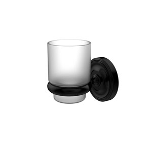 Prestige Regal Collection Wall Mounted Tumbler Holder, Matte Black