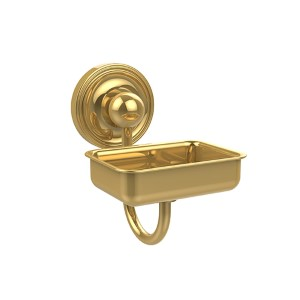 Polished Brass Prestige Regal Soap Dish with Glass Liner