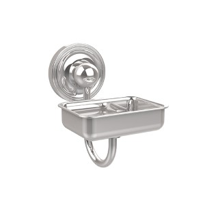 Polished Chrome Prestige Regal Soap Dish with Glass Liner