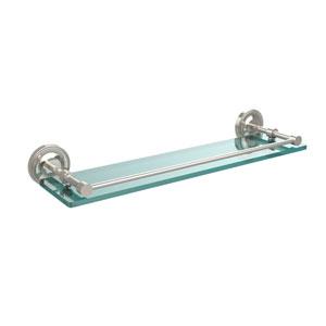 Prestige Regal 22 Inch Tempered Glass Shelf with Gallery Rail, Polished Nickel