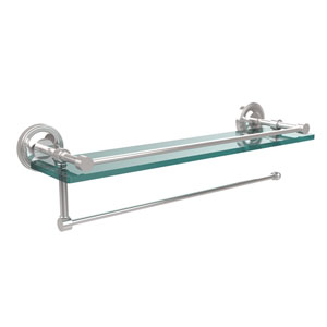 Prestige Regal Collection Paper Towel Holder with 16 Inch Gallery Glass Shelf, Polished Chrome