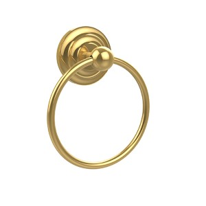 Que New Polished Brass Towel Ring