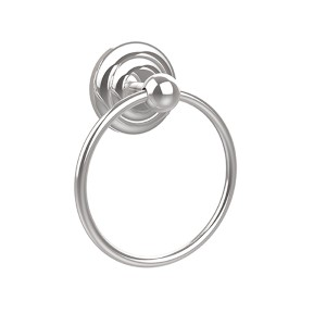 Que New Polished Chrome Towel Ring
