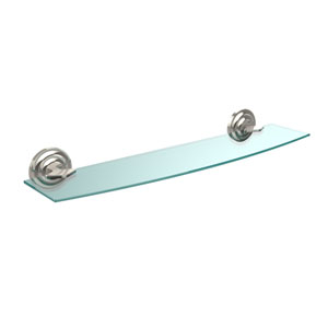 Que New Collection 24 Inch Glass Shelf, Polished Nickel