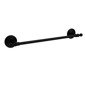 Que New Collection 24 Inch Towel Bar, Matte Black