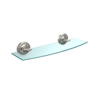 Regal Collection 18 Inch Glass Shelf, Satin Nickel