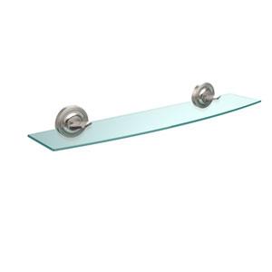 Regal Collection 24 Inch Glass Shelf, Satin Nickel