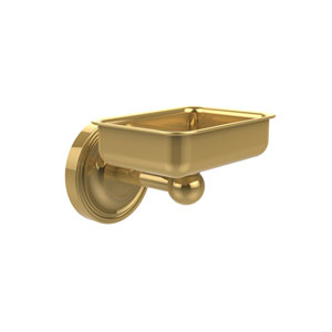 Regal Collection Wall Mounted Soap Dish, Unlacquered Brass