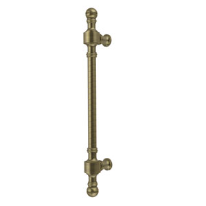 Retro Dot Collection 18 Inch Beaded Refrigerator Pull, Antique Brass
